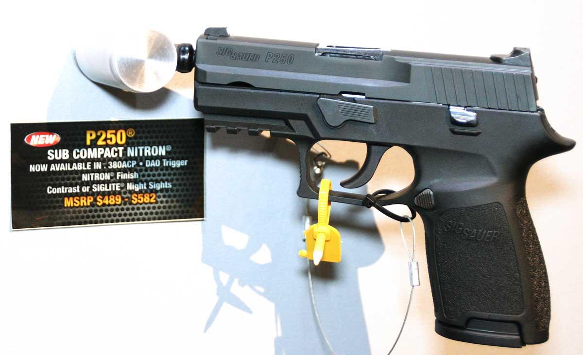 SIG Subcompact P250 in .380 ACP at the 2012 SHOT Show
