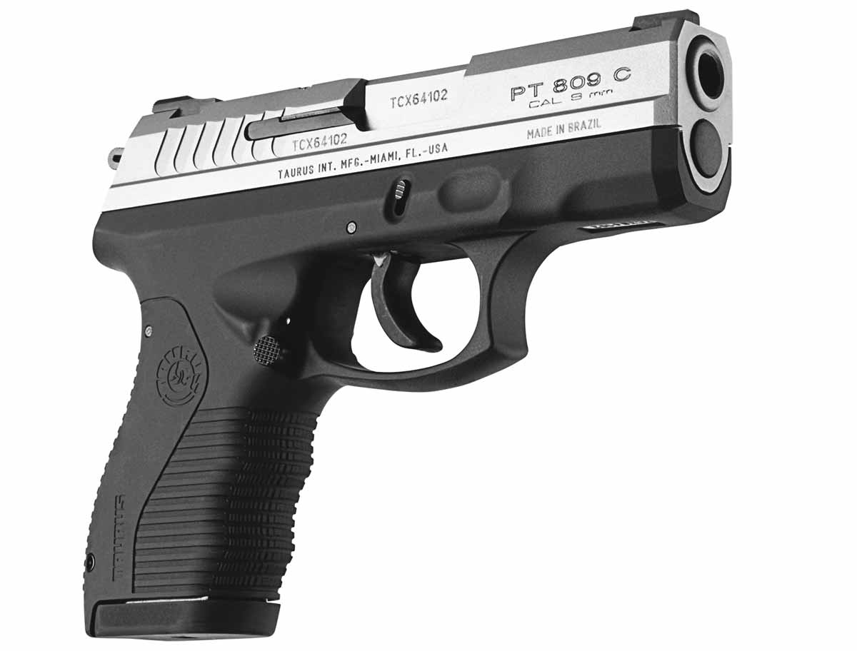 Taurus 809C with stainless steel slide