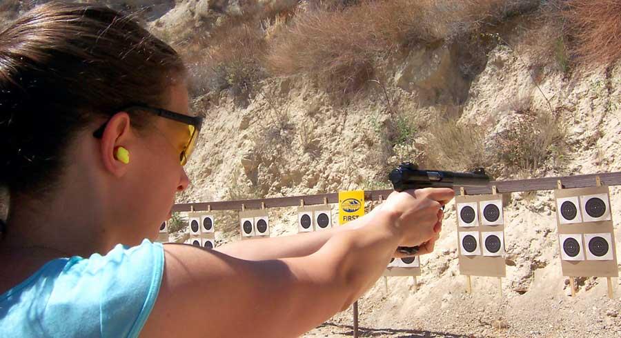 Teen Female Pistol Range