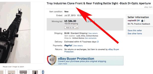 Troy clone ebay
