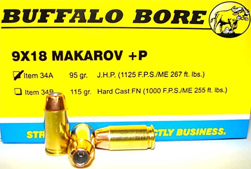 Buffalo Bore 9x18 JHP ammo