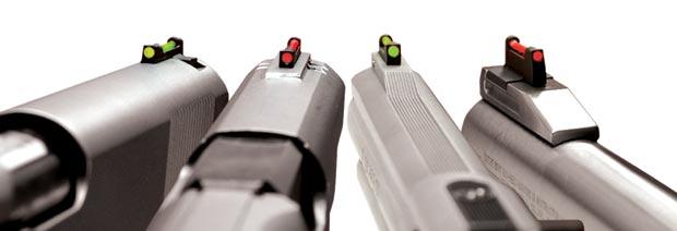 fiber optic pistol sights