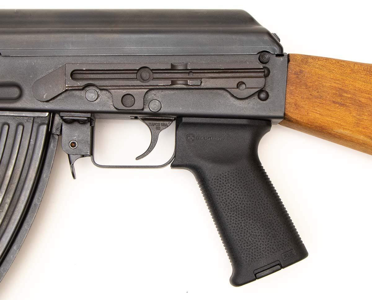 left side of AK pistol grip