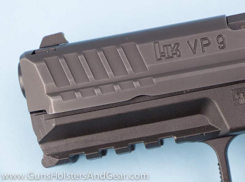 front of pistol