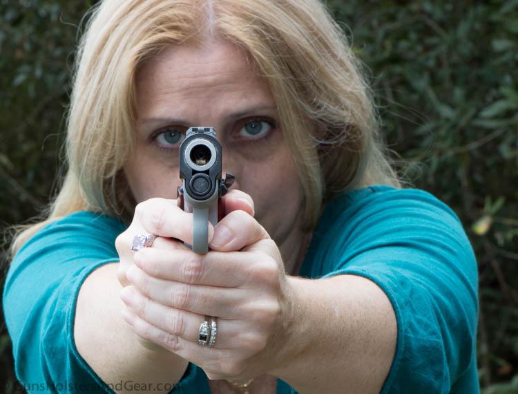 facing down the gun