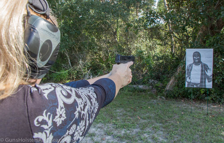 on the range with the 9mm shield