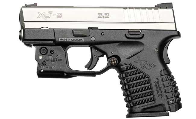 Viridian green laser for XDS pistol