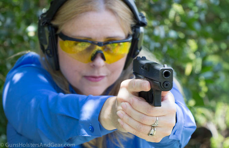 Woman Shooting Glock 43 Review