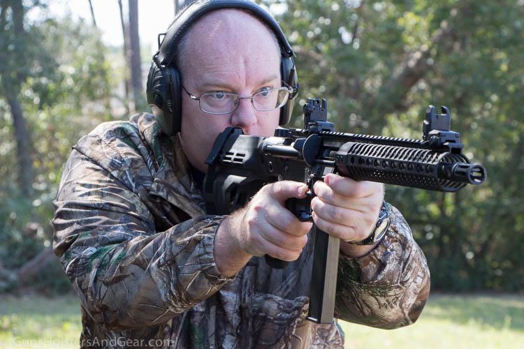 Black Creek Precision 9mm AR on the range