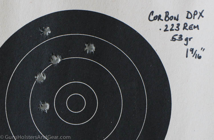accuracy of DB15 with Corbon