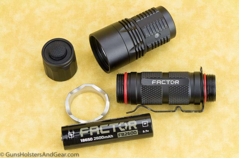 review of the Factor Equipment flashlight