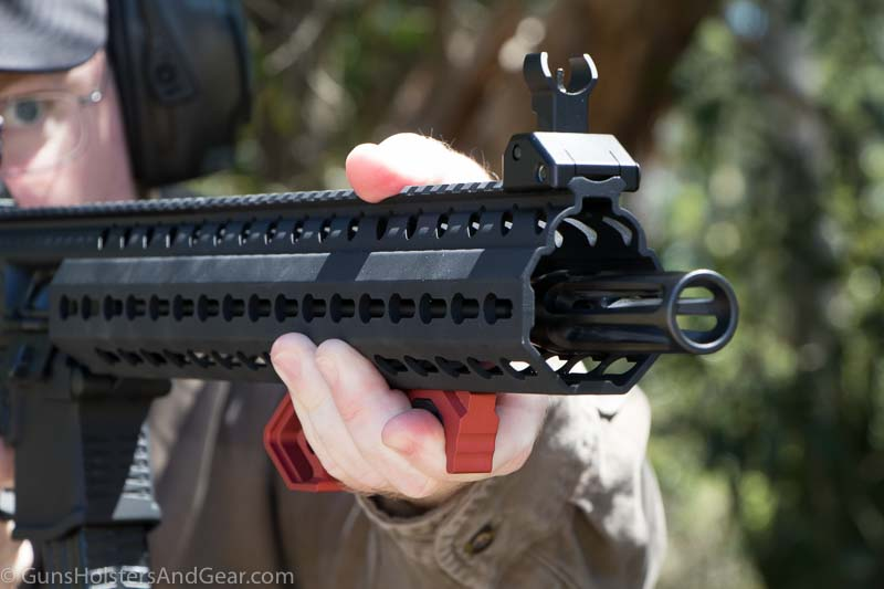 using a foregrip on an AR rifle