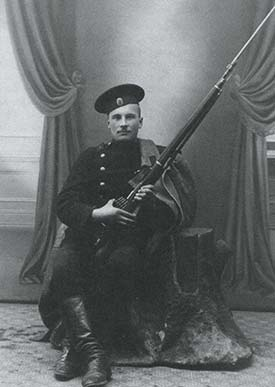 Russian Soldier with Mosin-Nagant Rifle