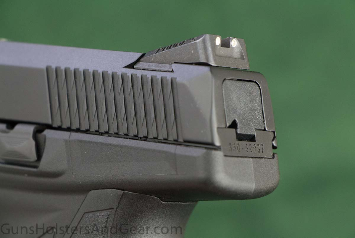 Ruger American Pistol Compact slide serrations