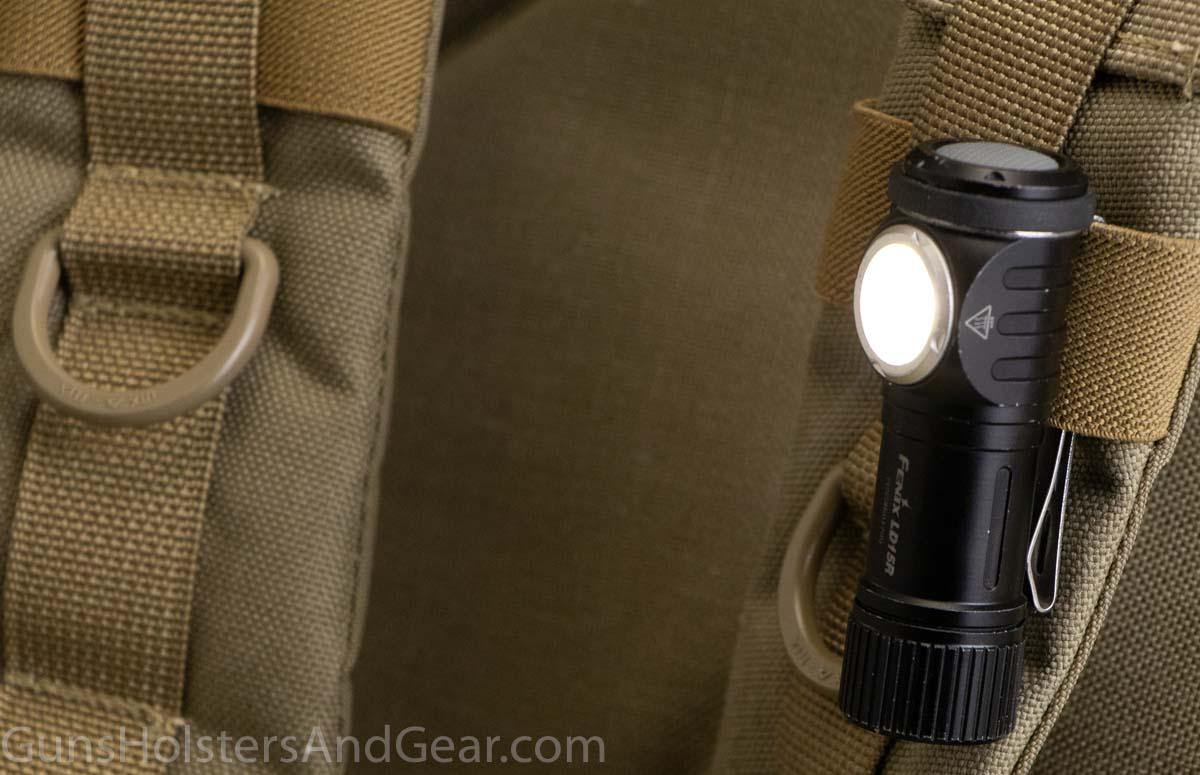 Fenix LD15R flashlight on MOLLE PALS