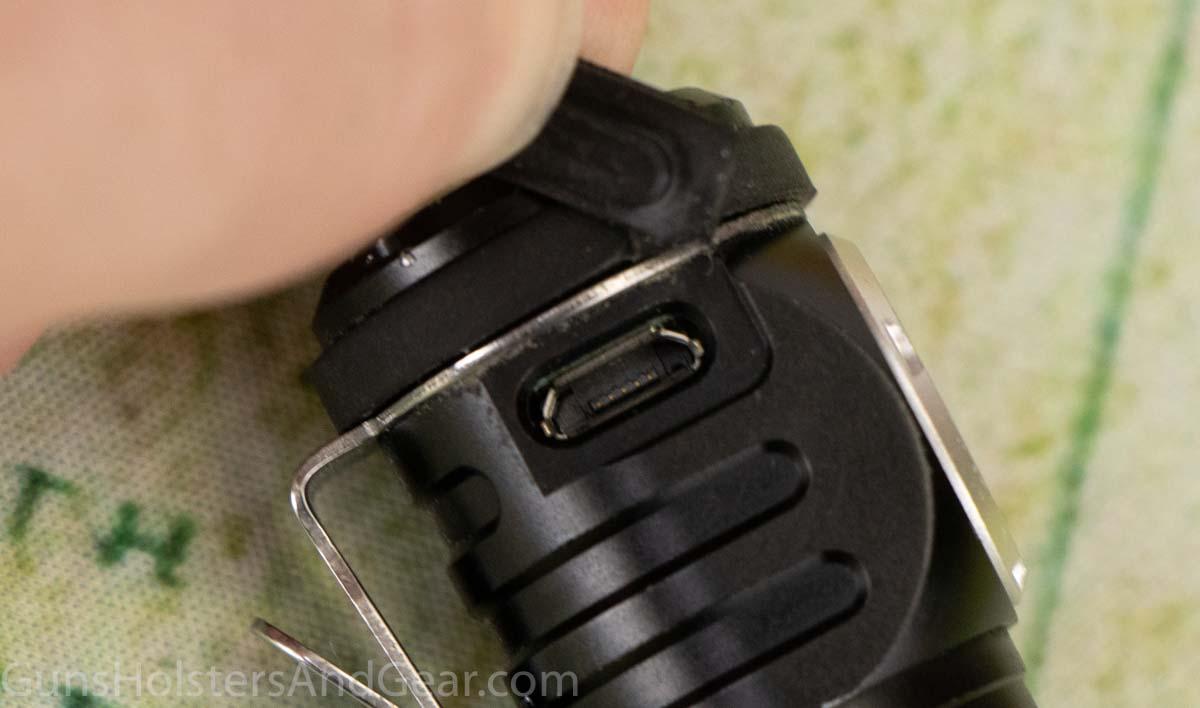 Watrproof Micro USB Charging Port on Fenix LD15R