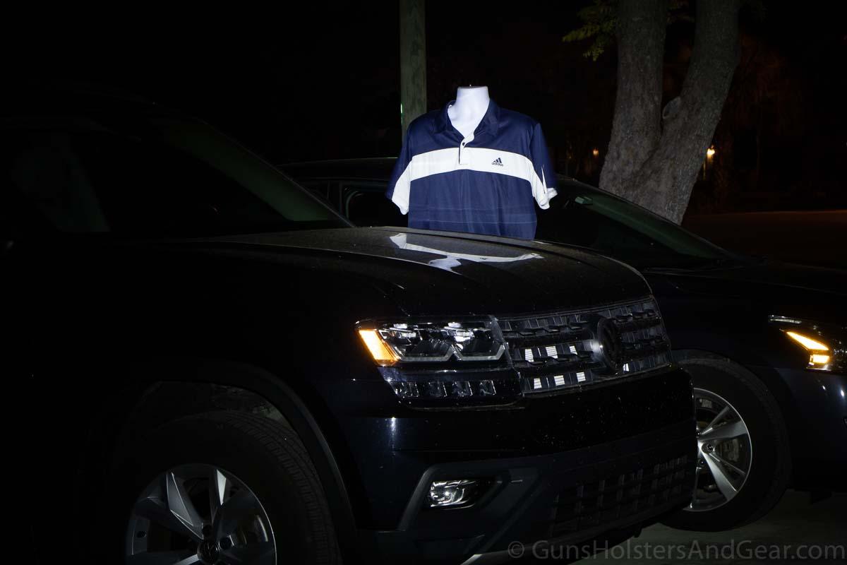 Streamlight ProTac HL Flashlight Demonstration with Car 7 yards after