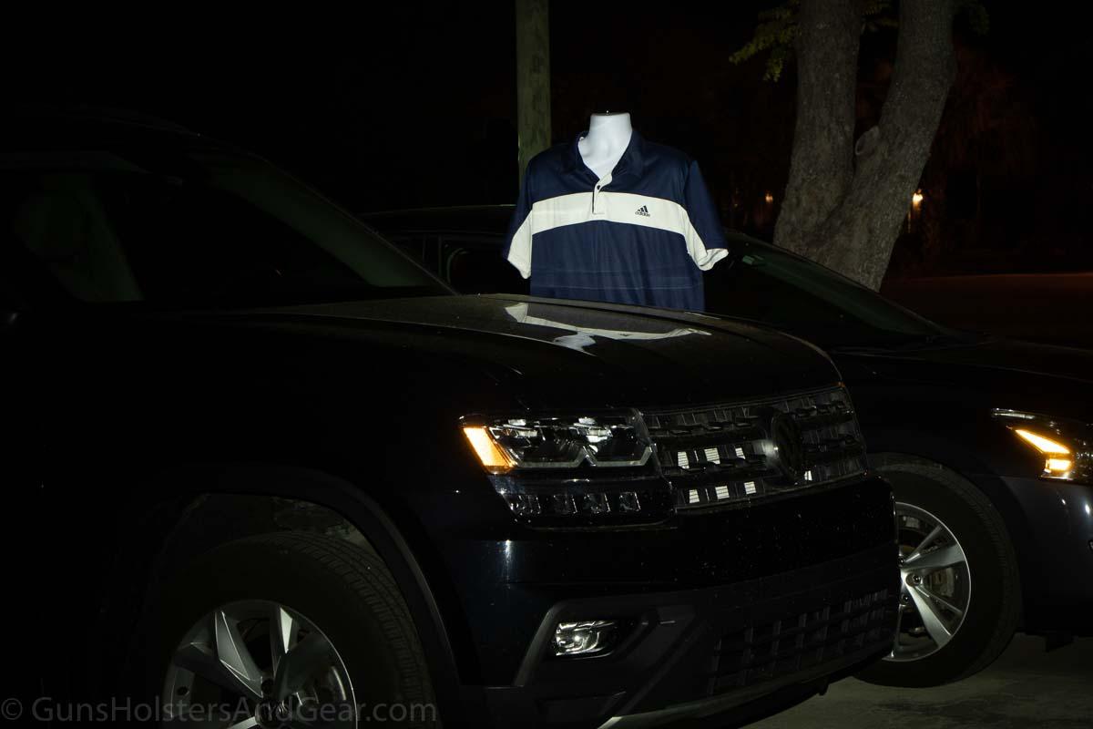 Night Test Between Cars