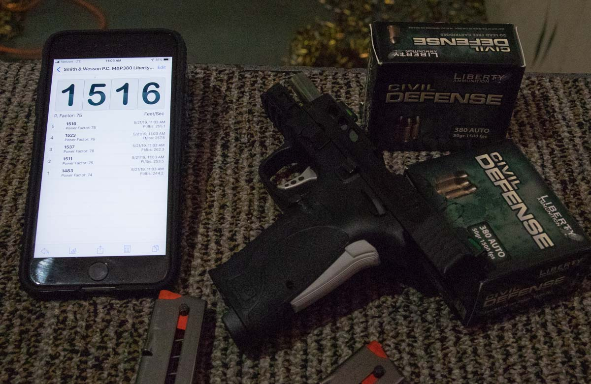 Ammunition Performance for Smith Wesson MP380EZ