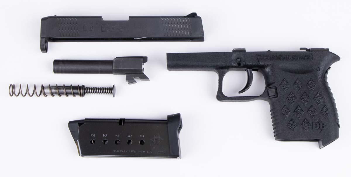 Field Stripping the original Diamondback DB9 pistol