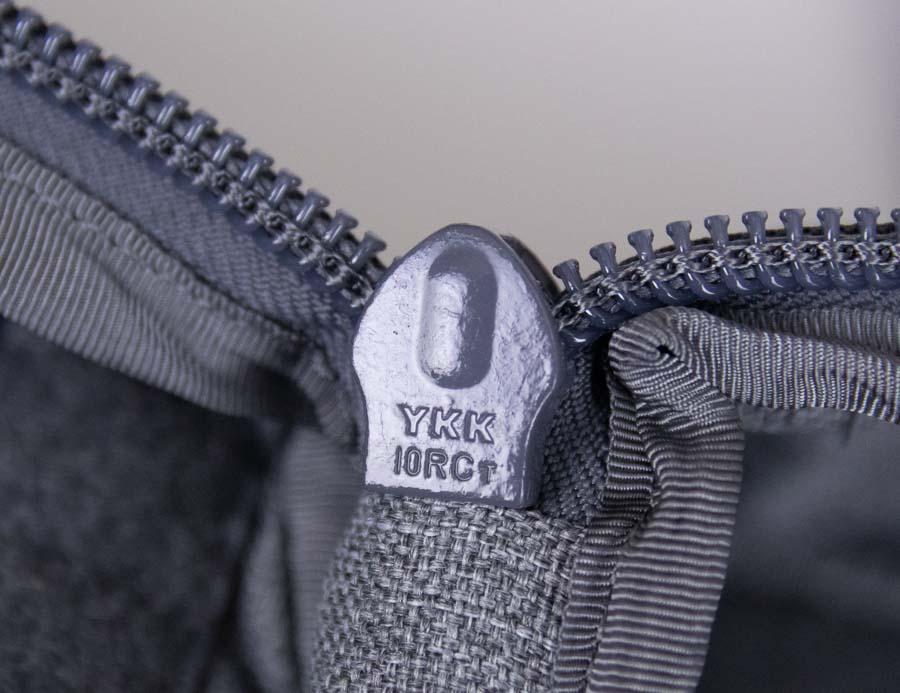 YKK Zippers on TakeDown Rifle Backpack