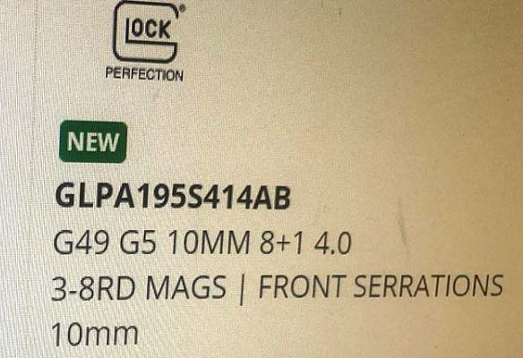 Glock 49 Pistol in 10mm SHOT Show Rumors