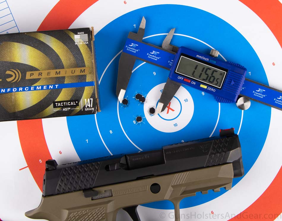 Federal HST 147 grain Tactical Accuracy Testing