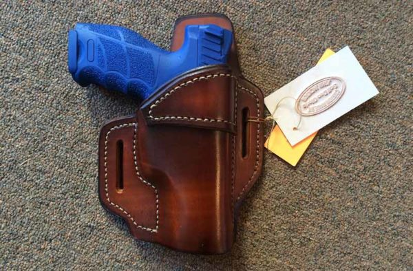 Leather OWB open top holster for VP9