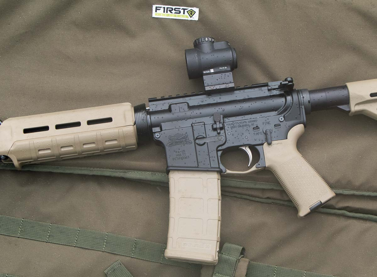 Testing the PSA rifle in the rain