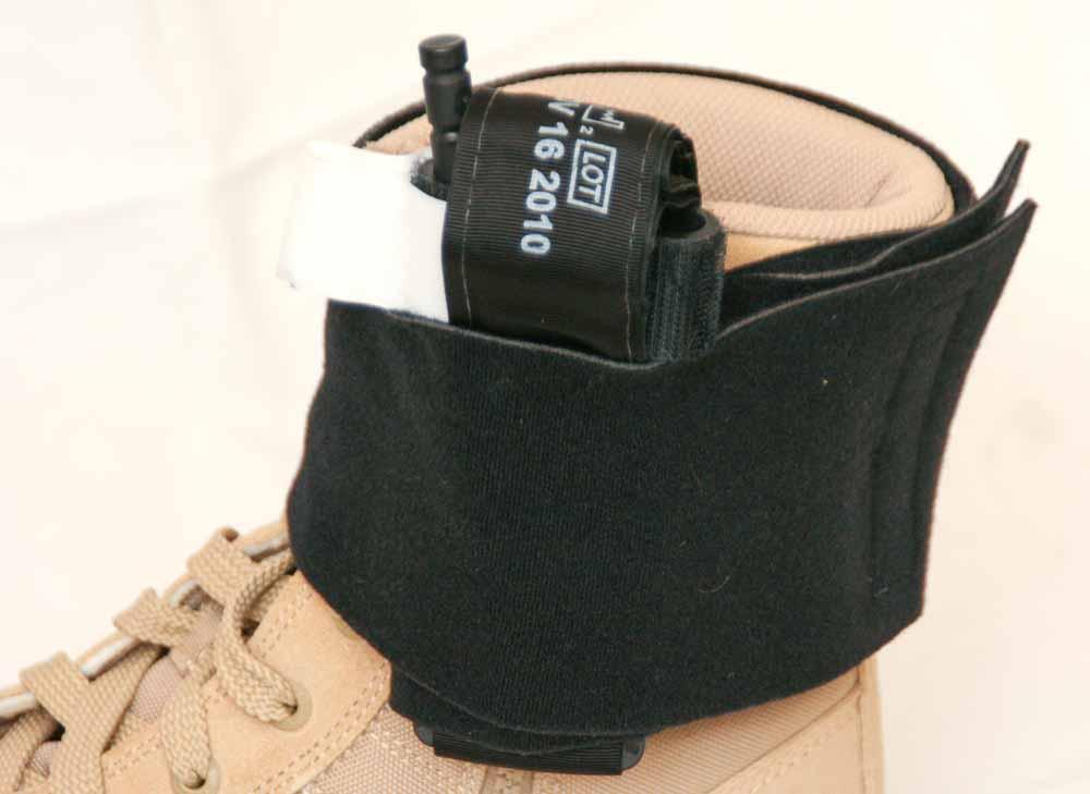 tourniquet in a boot holder