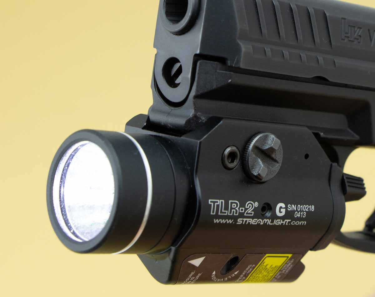 front view of the TLR-2 with light on