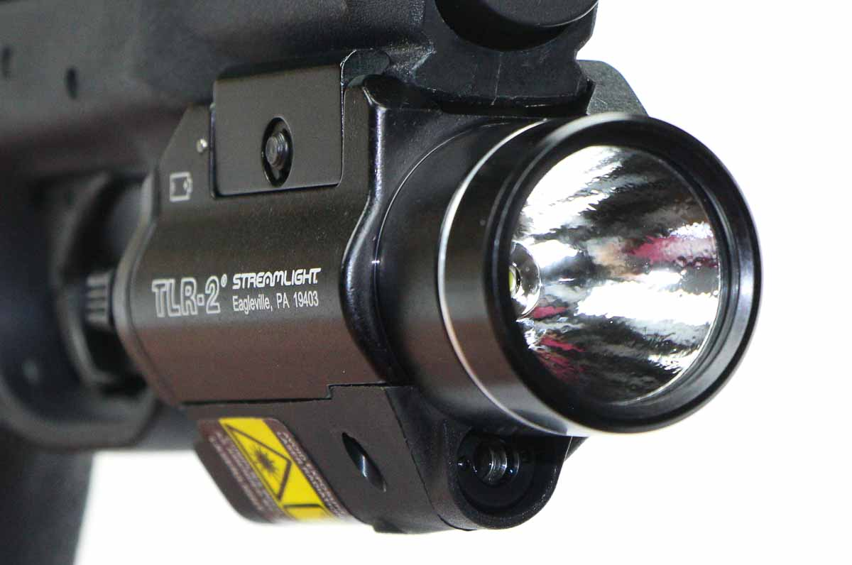 front view of the streamlight tlr-2 weaponlight