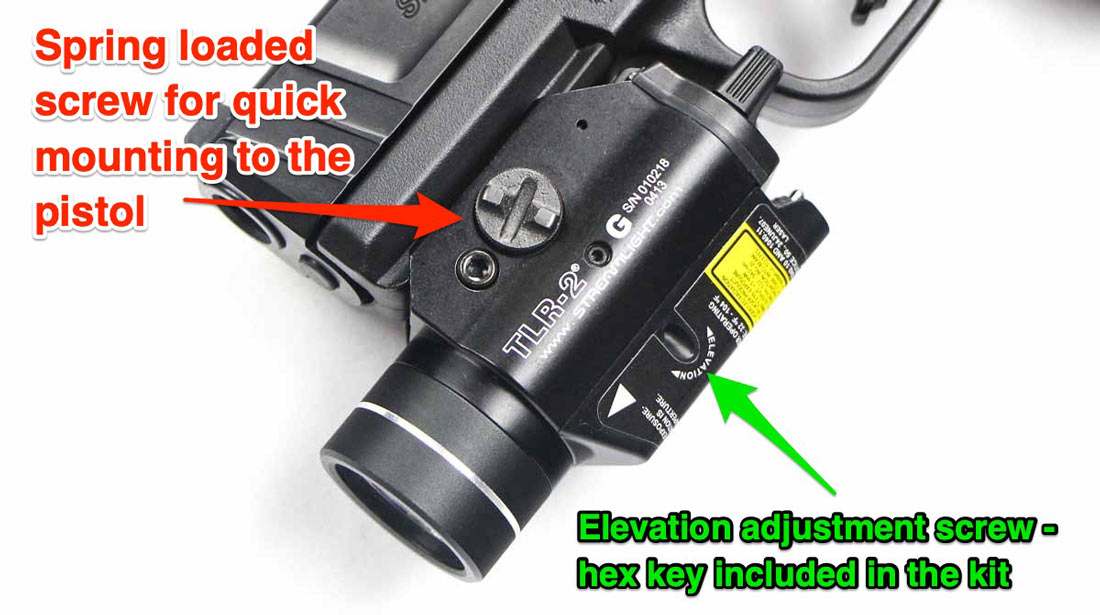 how to attach a TLR-2 G to a pistol