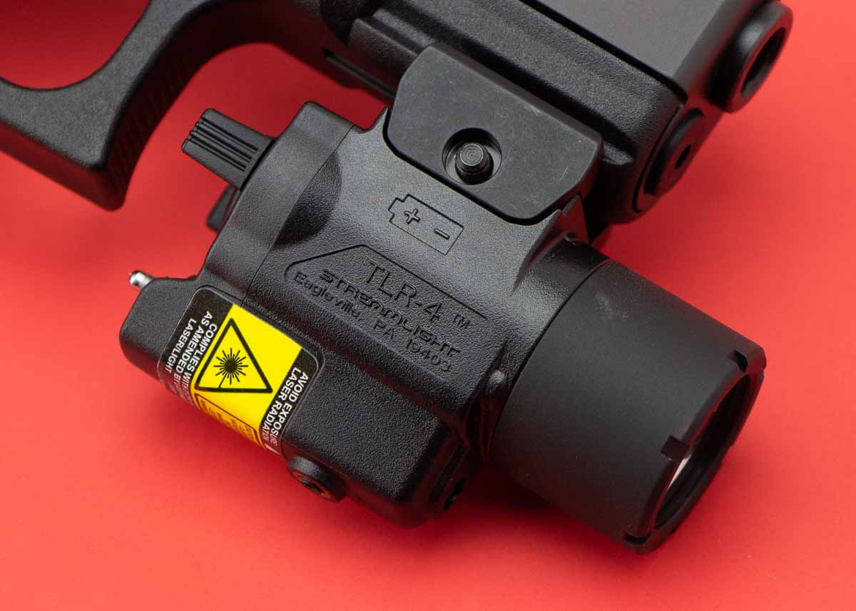mounting a TLR-4 weaponlight on a pistol