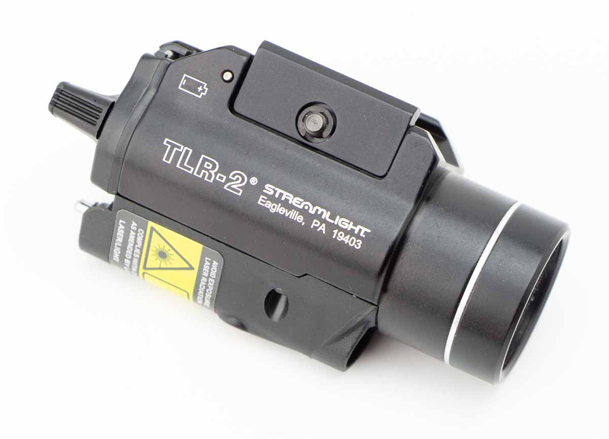 side view of the Streamlight light and laser