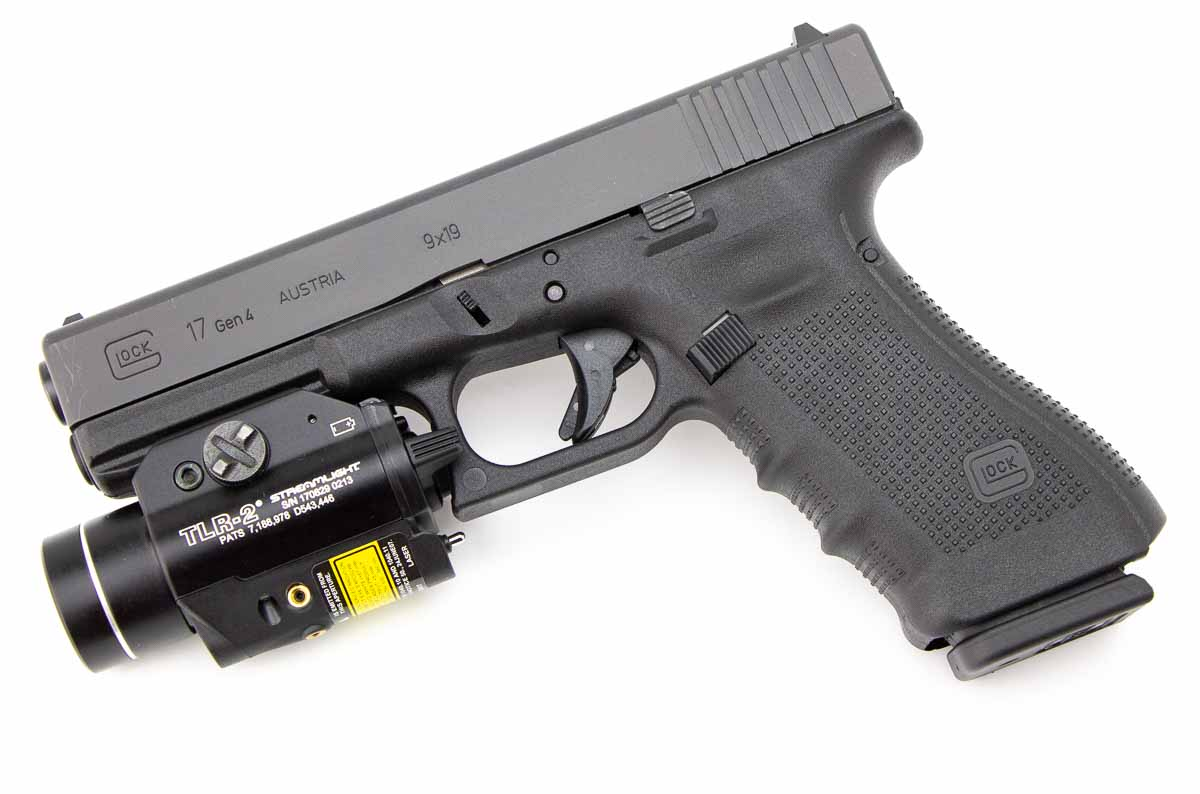 testing a Glock 17 9mm with the TLR-2 weaponlight