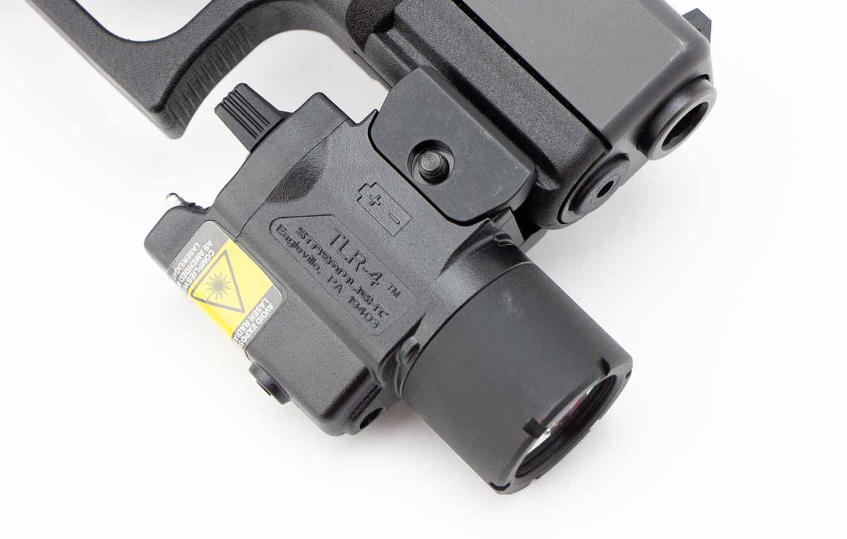 testing the TLR-4 mounted on a Glock 19 Gen4 pistol