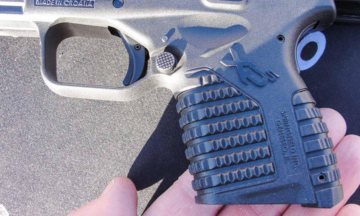 Grip Texture on the Springfield XD-S 45 ACP