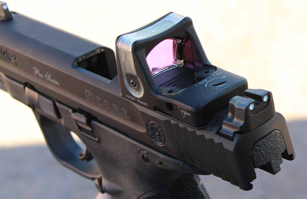 M&P CORE with RMR mounted on the slide