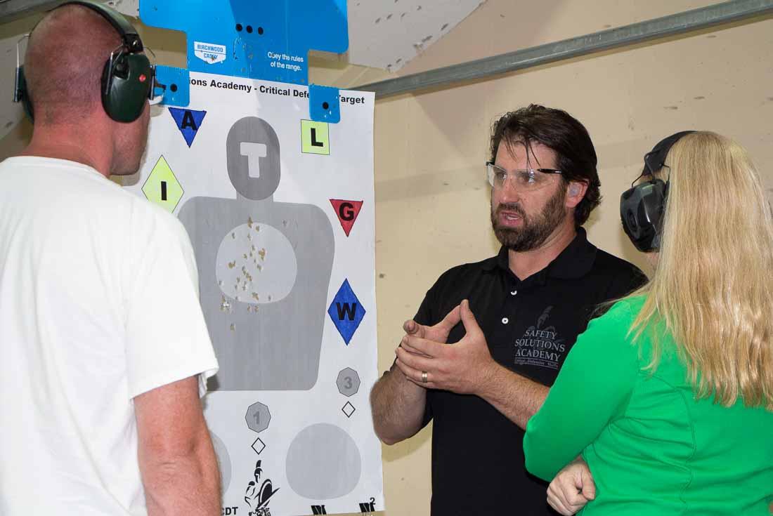 Paul Carlson teaching defensive firearms use