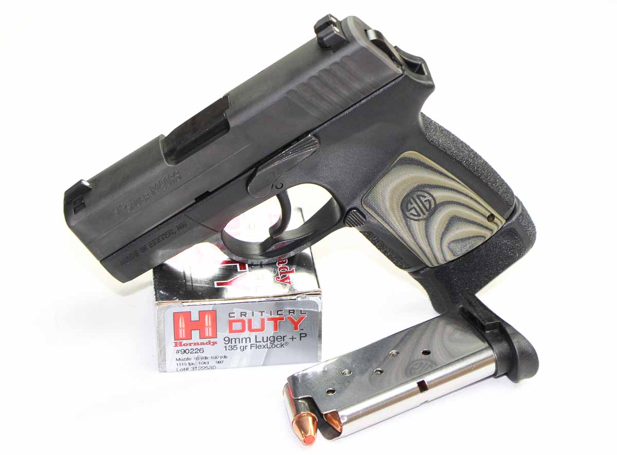 SIG P290 with Hornady ammo and magazine