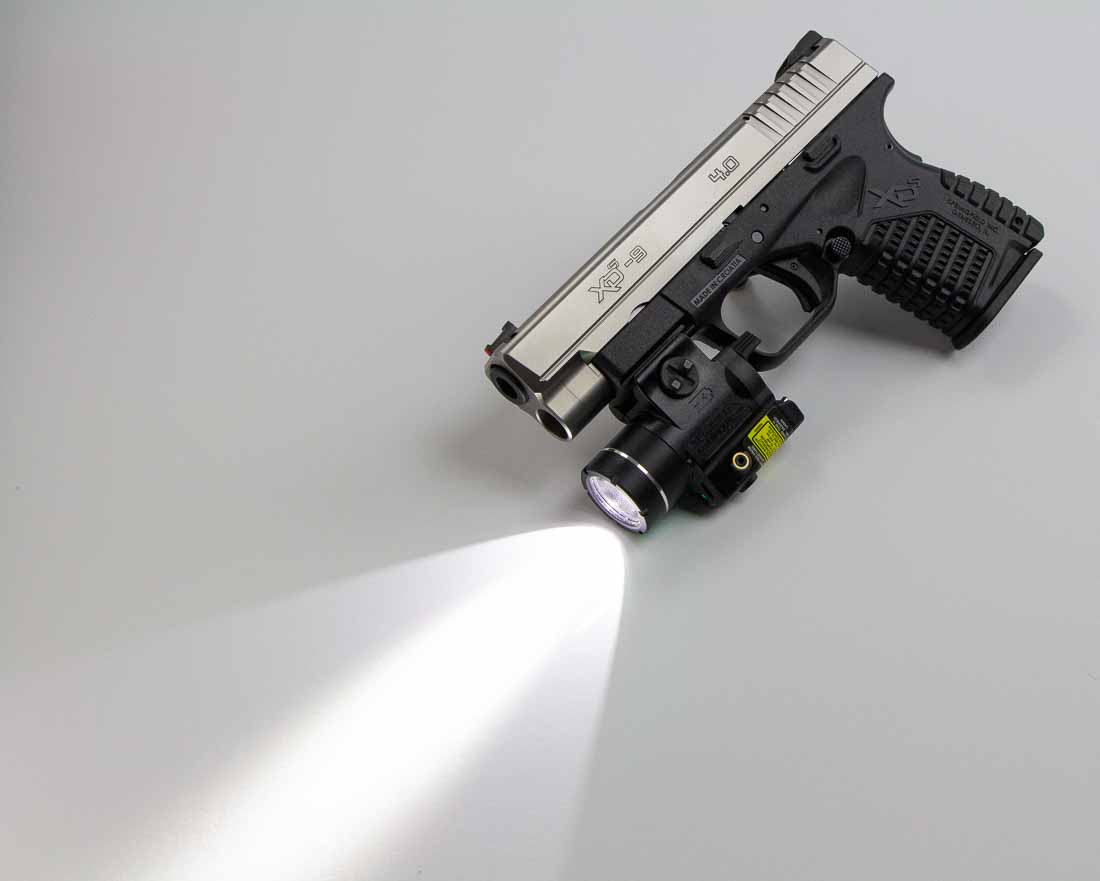 Springfield XD-S 4.0 with Streamlight TLR-4 attached