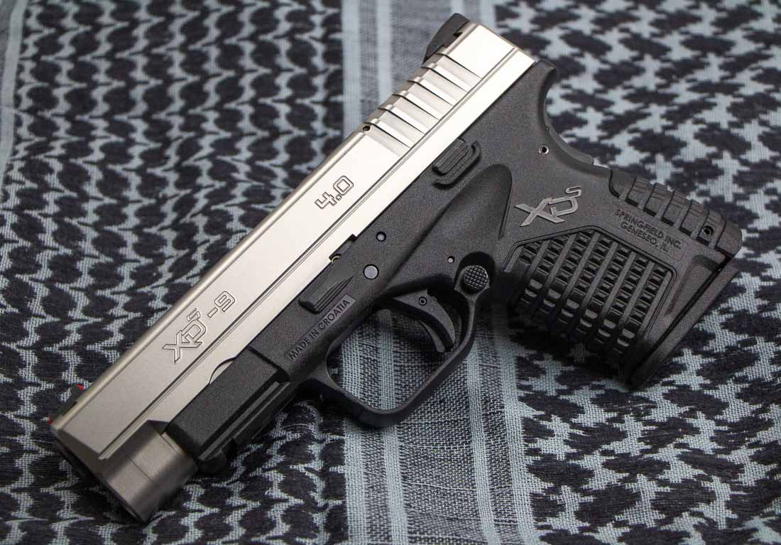 left side view of the springfield armory xd-s 4-0 pistol in 9mm