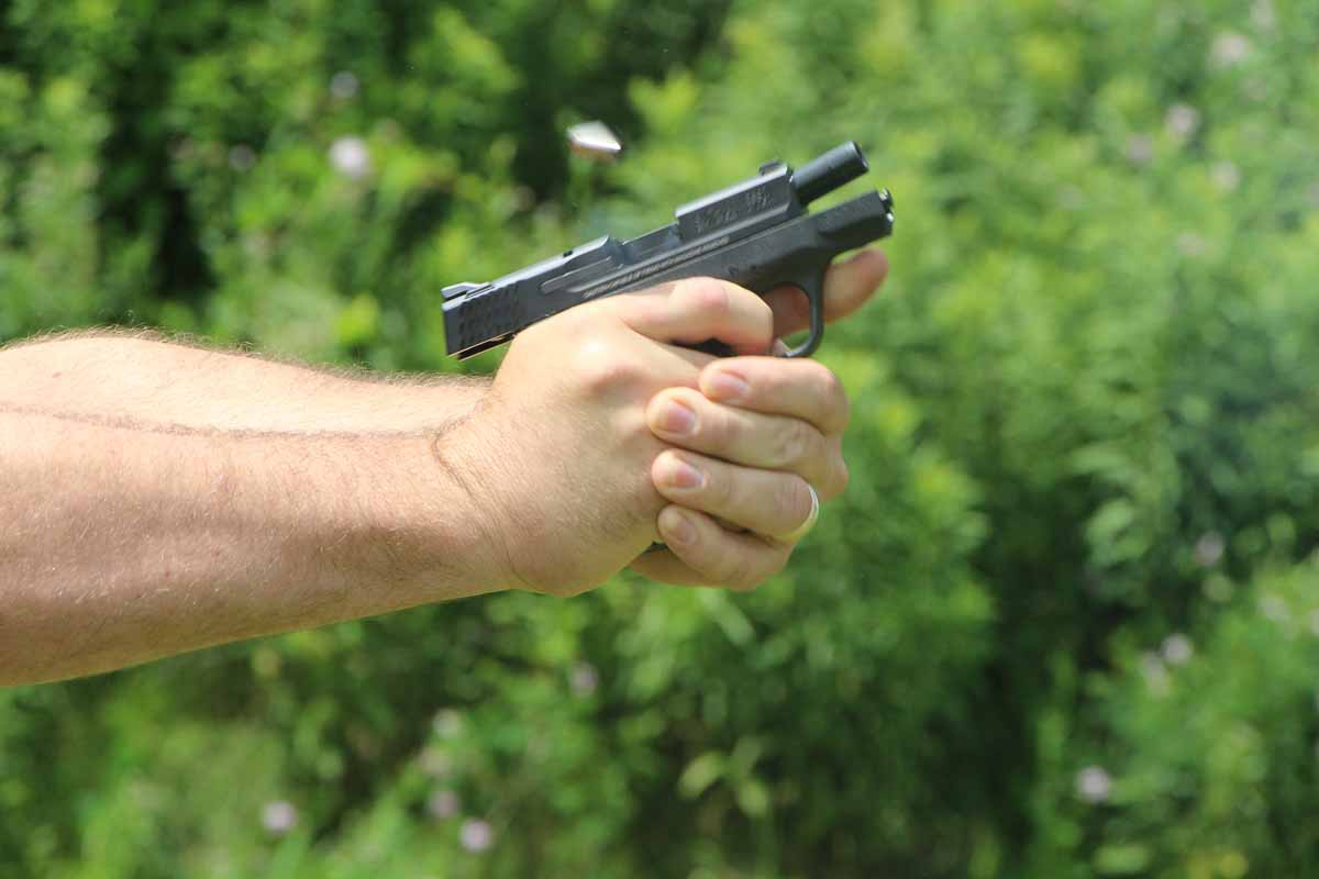 maximum recoil from 9mm in the Smith Wesson Shield