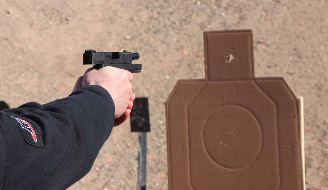 shooting the Springfield XDS 9mm
