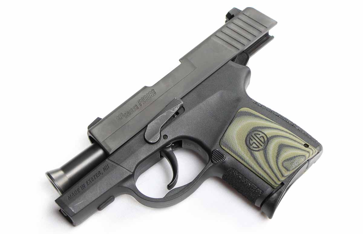 sig sauer 9mm subcompact p290 with slide locked back