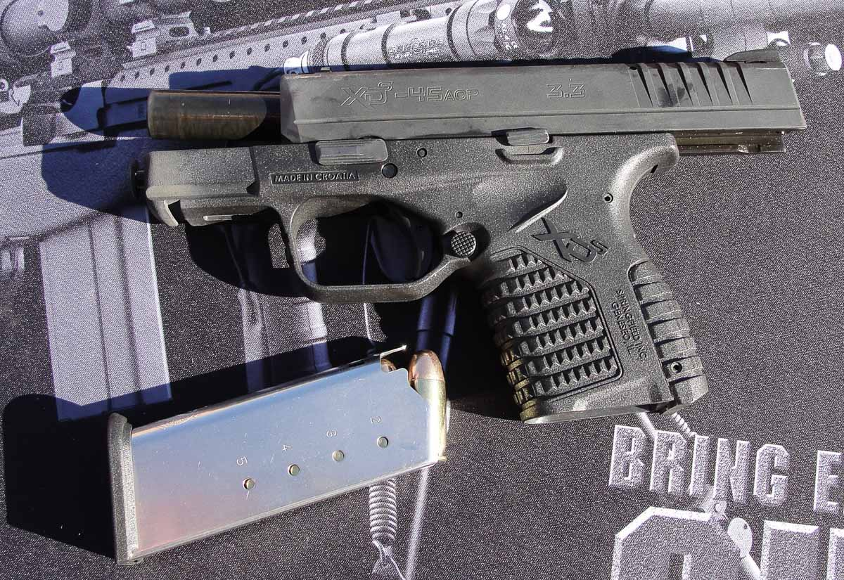 testing the Springfield XD-S 45 ACP pistol