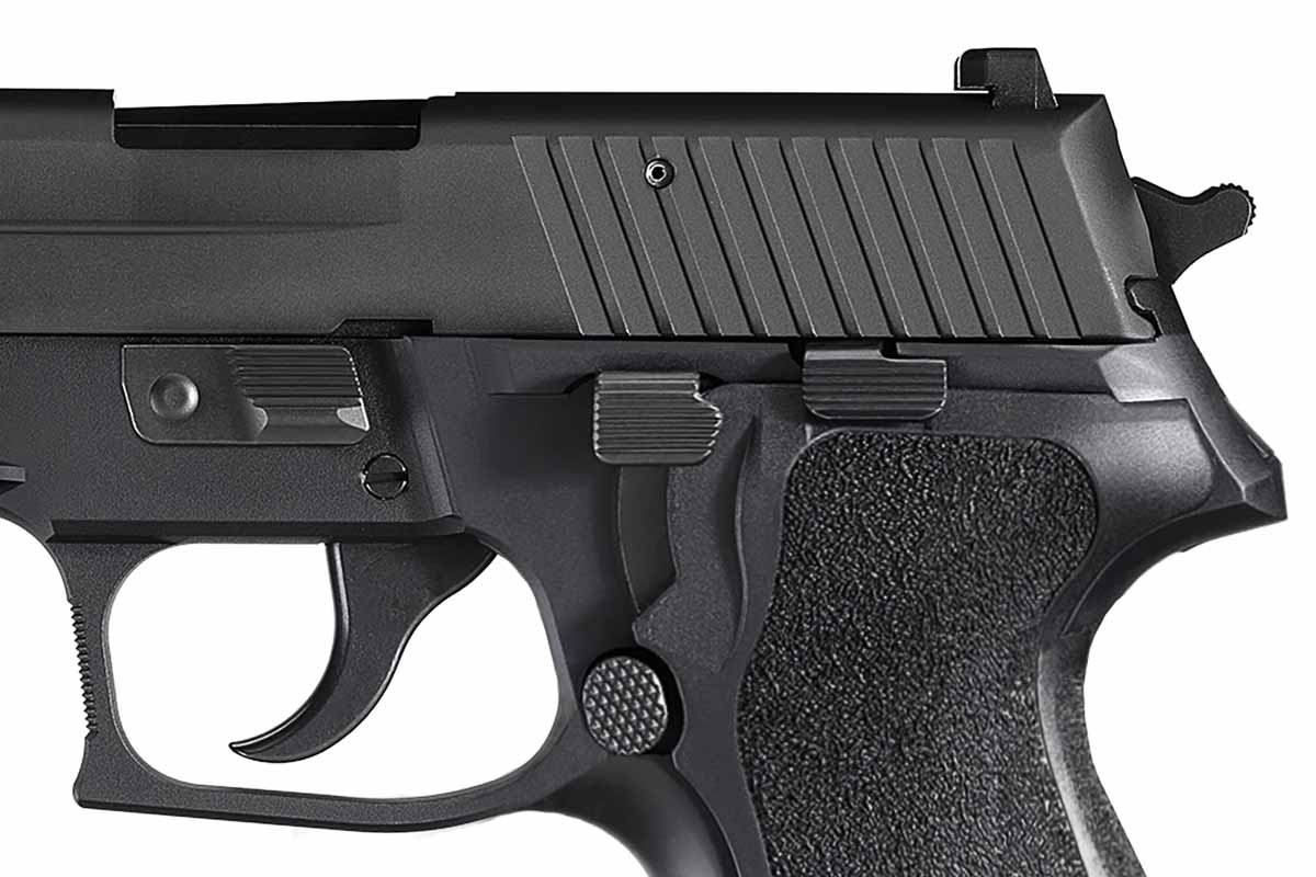 photograph of features on P227 pistol