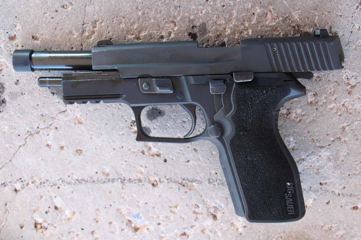 testing the SIG P227 at the range