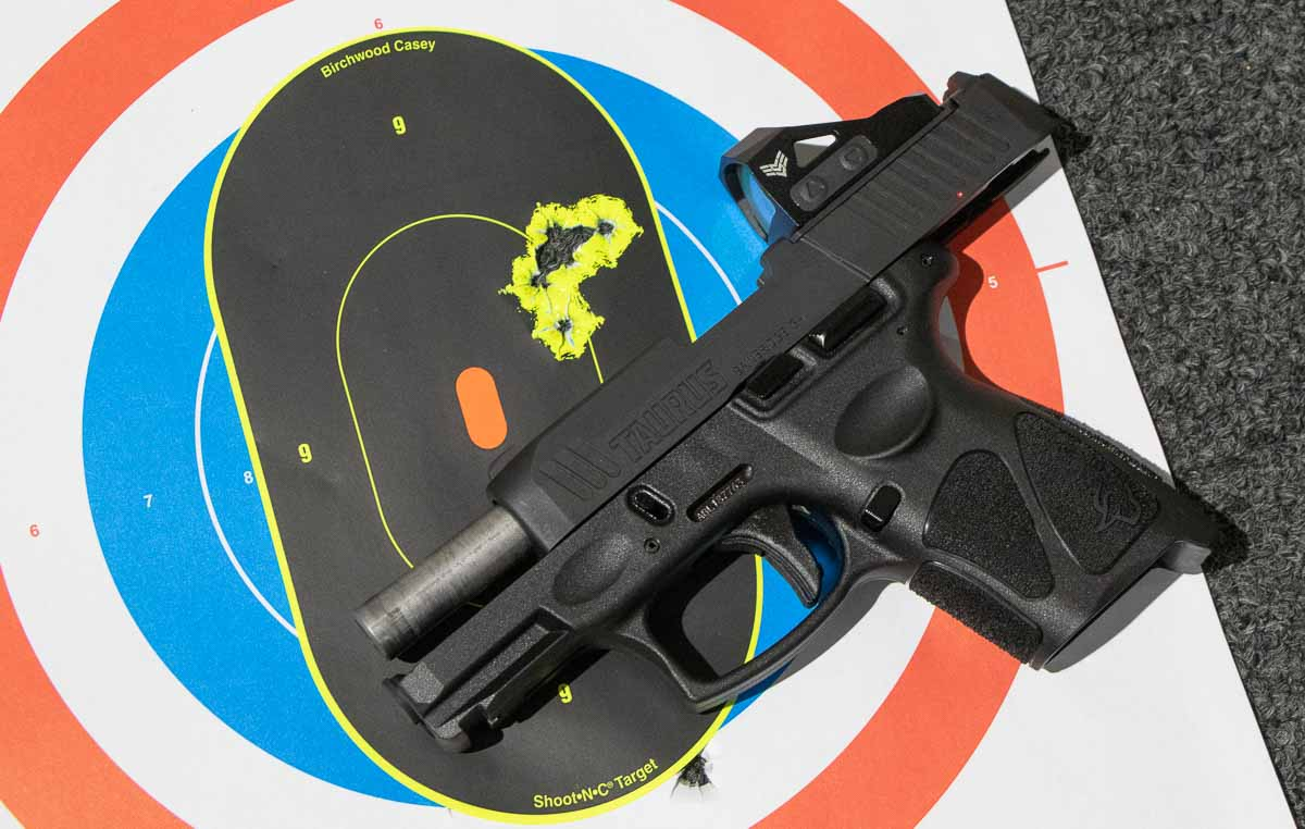 accuracy testing results with 9mm ammo in the G3c